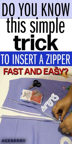 This is a detailed sewing tutorial on inserting a zipper fast and easy without pinning or basting. You just need to use Wonder tape for sewing. If you are wondering how to put in an invisible zipper in a dress or how to sew an invisible zipper in a pillow read this tutorial. Sewing invisible zipper is really easy. Invisible zipper vs regular zipper. #zippers  #zippertutorial #sewingprojectsforbeginners #sewingtips #sewingtutorials