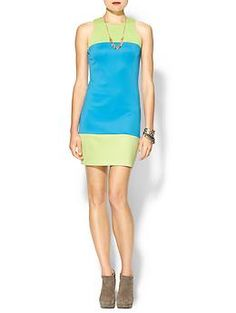 Color-blocked party dress#