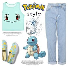 """""""pokemon style squirtle"""" by silycarsobers ❤ liked on Polyvore featuring Boutique, Keds, Pokemon and pokemonstyle"""