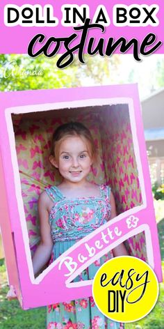 Make a doll in a box costume using materials you already had lying around the house. Homemade Halloween Costumes, Cosplay Costumes, Toy Chest, Easy Diy, Dolls, Box, Frame, Cute, Baby Dolls