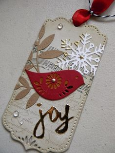 Marcia's Stampin' Pad: Make it Monday - Partial Die Cuts for the Holidays /Papertrey Ink dies Christmas Paper Crafts, Noel Christmas, Christmas Gift Tags, Xmas Cards, Christmas Projects, Handmade Christmas, Holiday Crafts, White Christmas, Handmade Gift Tags