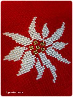 cuore edelweiss parolin - il punto croce