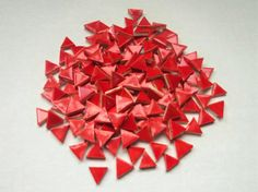 Ceramic Mosaic Tile-Micro-100-Red 1/2 inch micro by mosaicmonkey