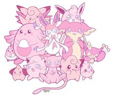 Kawaii pink Pokemon by LadyAgny on DeviantArt Más Pokemon Jigglypuff, Gif Pokemon, Type Pokemon, Pokemon Party, Pokemon Pink, Pikachu, Kawaii, League Of Legends, Powerful Pokemon
