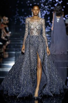 Evening Wear Haute Couture By Zuhair Murad 2015-16. Evening wear haute couture glamour dresses were launched by Zuhair Murad for the fall winter season