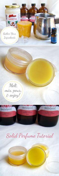 DIY Luxury Solid Perfumes | Inspire Beauty Tips
