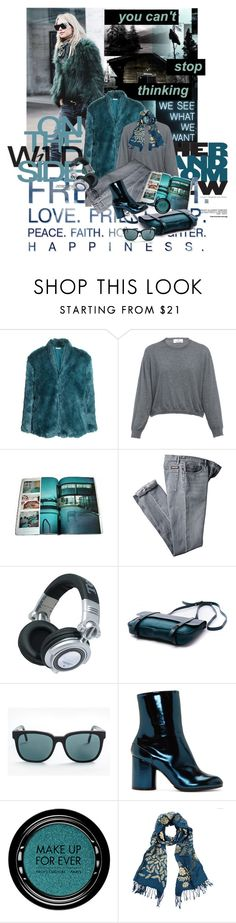 """""""Cropped Faux Fur Coats"""" by lacas ❤ liked on Polyvore featuring Nicholas K, H&M, Allude, Panasonic, RetroSuperFuture, Maison Margiela, MAKE UP FOR EVER, women's clothing, women and female"""