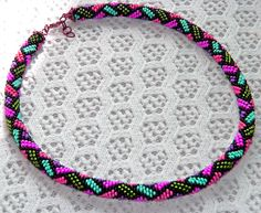 Free pattern for beaded crochet rope Mallow... As if I needed another hobby! Guess ill be attempting these now