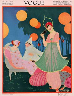 1913 Vogue cover - looks like a Poiret costume