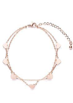 Love Delicate Bracelet Rose Gold #fashion #style #rosegold #delicate #hearts…