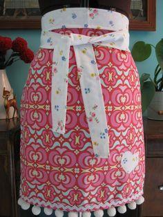Barista Style Apron Amy Butler Fabric-Garden Maze
