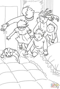 Coloring page (use with We're Going on a Bear Hunt