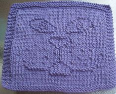 knitted dishcloth patterns | Cat Face Knit Dishcloth Pattern