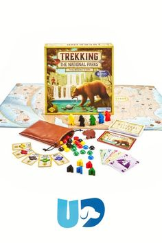 Have a fun family game night with this adventure across the US national parks. This is a great gift for travel lovers of all ages. Read more at UnderdogGames.com! Family Board Games, Fun Board Games, Fun Games, Games To Play With Kids, Murder Mystery Games, Vintage Board Games, Us National Parks, Family Game Night, Educational Games