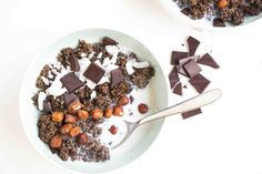 Dark Chocolate and Almond Quinoa Porridge