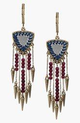 Sam Edelman Beaded Fringe Drop Earrings