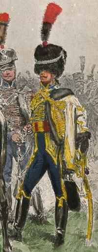 Officier du 5e Hussards d'après E. Detaille, qui le date de 1805.