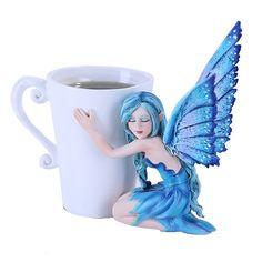 Amy Brown Coffee Comfort Relaxing Faery Fantasy Art Statue Tea Cup   eBay