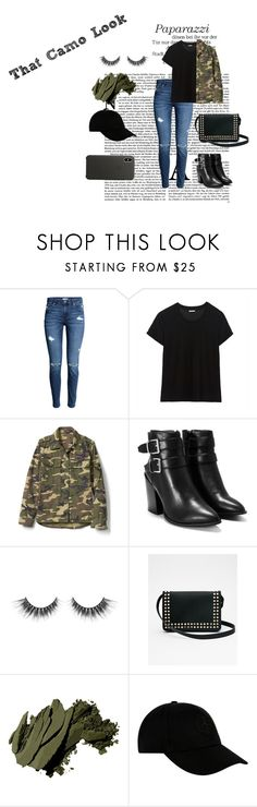 """""""Camo grudge"""" by therealcloset ❤ liked on Polyvore featuring Gap, Nasty Gal, Express, Bobbi Brown Cosmetics, STONE ISLAND and Apple"""