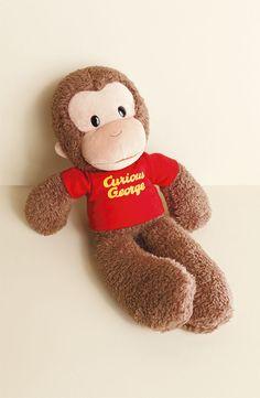 Curious George Stuffed Animal will help the baby sleep through the night.  $17.00
