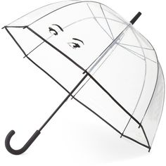 kate spade new york Winking Eyes Umbrella found on Polyvore featuring accessories, umbrellas, winking eyes, see through umbrella, transparent umbrella, kate spade umbrella and kate spade