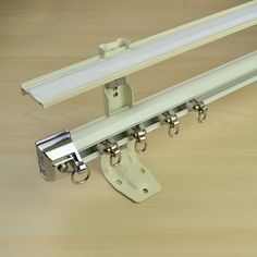 CHR7425 Wall Mount Double Curtain Track Set with Valance Track and Rails