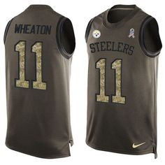 Nike Steelers #11 #Markus #Wheaton Green Men's Stitched #NFL Limited Salute To Service Tank Top #Jersey