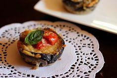 Parmigiana di melanzane in versione finger food