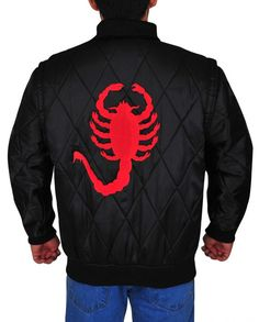The Ryan Gosling Scorpion Drive Logo Jacket is a classic looking black jacket made from satin with full-length sleeves and a zipper style closure. Ryan Gosling Drive, Ryan Gosling Movies, Black Fabric, Satin Fabric, Red Logo, Movie Drive, Scorpion, Cuff Sleeves, Casual Looks