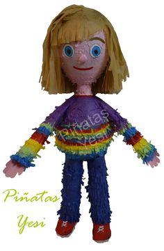 Piñata artesanal hecha a mano al estilo tradicional mexicano de Riley de Del Reves o Inside Out