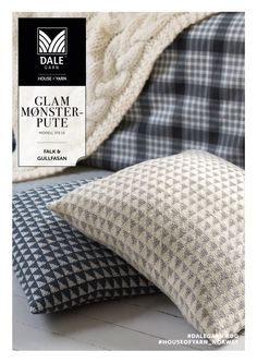 dg_335_10_glam_pute | knitted pillow | knitted interior | knitting pattern Knitted Cushions, Diy Interior, Bed Pillows, Knitting Patterns, Knit Crochet, My Design, Sweet Home, Ravelry, Threading