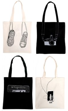 I have some canvas totes that need decorating and this is a great idea~illustrate stuff in my bag Diy Tote Bag, Reusable Tote Bags, Canvas Totes, Canvas Tote Bags, Shopper, Cotton Bag, Cloth Bags, Handmade Bags, My Bags