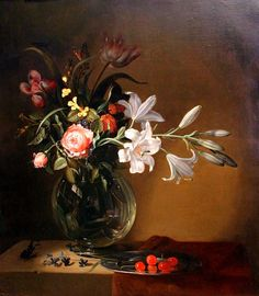 Jacob Marrell. Vase of Flowers. after 1640, Narodni Gallery, Prague