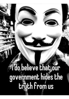 """The common """"V for Vendetta"""" mask is not my cup of tea, however, the message certainly is. The master rarely wants the slave to be as smart as he."""