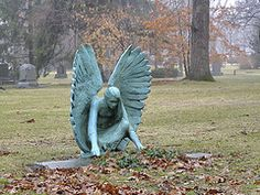 Marker- Crouching Angel at the Lake Forest Cemetery, by:slipgrove's. http://www.thefuneralsource.org/cemloc.html