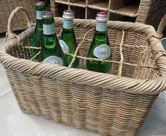 Vintage Vineyard Woven Wine Basket by tonimareebishop on Etsy, $64.95