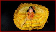 poupée de salon boudoir coussin d'époque art déco tête tissus in Art, antiquités, Objets du XXème, récents   eBay