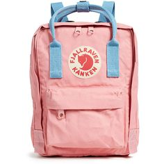 Fjallraven Kanken Mini Backpack ($70) ❤ liked on Polyvore featuring bags, backpacks, miniature backpack, canvas bags, canvas backpacks, red canvas backpack and day pack backpack