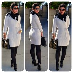 OOTD: #H Dress + Studded Clutch  Details @ http://mimigoodwin.blogspot.com/2012/11/ootd-h-knit-dress-studded-bag.html