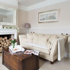 Neutral living room   Edwardian home in Essex   House tour   housetohome.co.uk