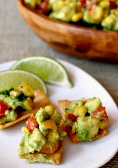 Fresh avocado and roasted corn salsa, great with chips or layered on tacos.