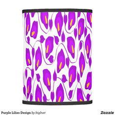 Purple Lilies Design Lamp Shade