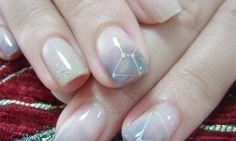 star water color nail