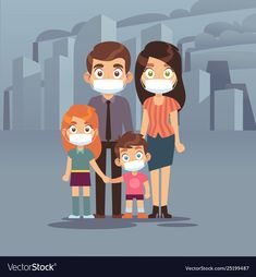 Family city smog people protective face masks vector image on VectorStock Free Vector Images, Vector Free, Yellow Aesthetic Pastel, Arrow Drawing, Dont Touch My Phone Wallpapers, Cloud Vector, Man Vector, Survival Supplies, Abstract Shapes