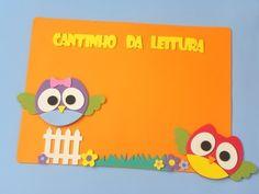 Painel Cantinho da leitura Coruja www.petilola.com.br