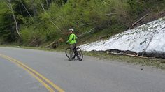 Biking on the Going to the Sun Road.  In mid-May it was closed on the West side after Avalanche Trail but you could bike or walk the road (as far as you wanted or until snow blocked the entire road off?)