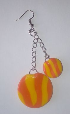"Hänge-Ohrringe ""Gelb-Orange"" – Unikate Schmuck Hippie Style, Hippie Mode, Boho, Jewelry Shop, Drop Earrings, Gallery, Handmade, Diy, Beauty"