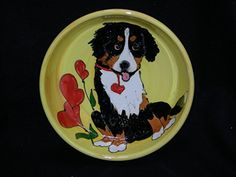 Bernese Mountain Dog 10 Ceramic Dog Bowl for Food and Water Personalized at no Charge Signed by Artist Debby Carman *** You can get additional details at the image link.(This is an Amazon affiliate link and I receive a commission for the sales)
