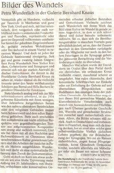 Ausstellungsbesprechung, Petra Wunderlich, Common Ground bei Bernhard Knaus Fine Art, Frankfurt http://www.bernhardknaus-art.de/Petra_Wunderlich_D.html