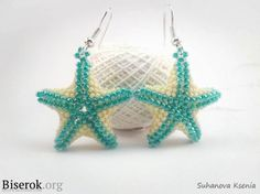 Make Beaded Starfish Earrings-Make a starfish earrings using simple plastic beads or seed beads For manufacturing, we need: - Beads in two sizes, such as 10 and 15 - beading needle - thread lavsanovaja - The Seed Bead Tutorials, Seed Bead Patterns, Jewelry Making Tutorials, Jewelry Patterns, Beading Patterns, Bracelet Patterns, Free Beading Tutorials, Clay Tutorials, Beaded Starfish